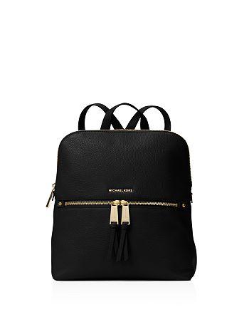 MICHAEL Michael Kors - Rhea Medium Zip Leather Backpack