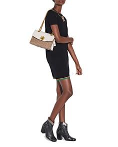 COACH - Parker Coated Canvas & Leather Convertible Shoulder Bag
