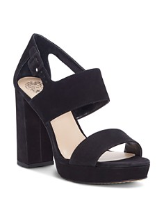 VINCE CAMUTO - Women's Jayvid Suede Platform Sandals
