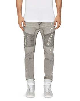 NXP - Destroyer Moto New Tapered Fit Jeans in Wolf Gray