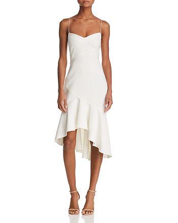 LIKELY - Ophelia Flounced Midi Sheath Dress