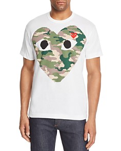 Comme Des Garcons PLAY - Camouflage Heart Graphic Tee