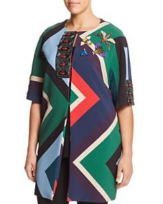 Marina Rinaldi - Nelson Embellished Geo-Print Coat