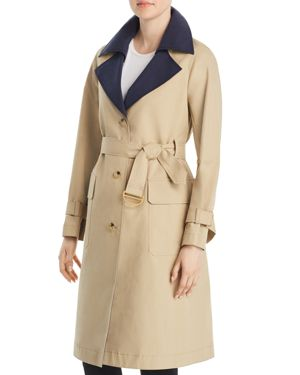 ASHBY TWO-TONE COTTON-CANVAS TRENCH COAT