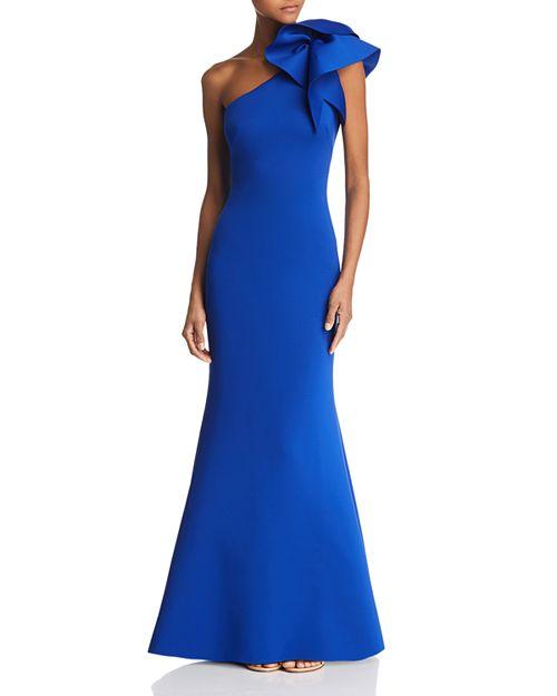 Eliza J - One-Shoulder Scuba Gown