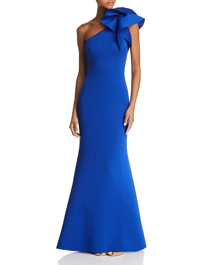 Eliza J - One-Shoulder Scuba Gown