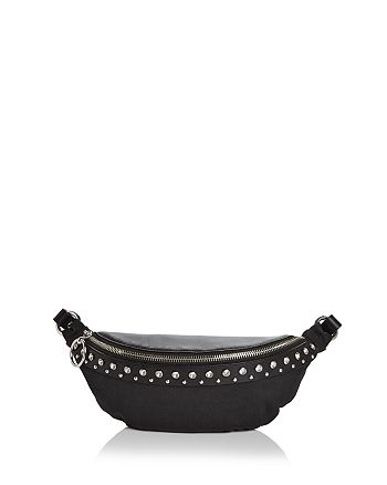 Rebecca Minkoff - Crystal Studded Nylon & Leather Convertible Belt Bag