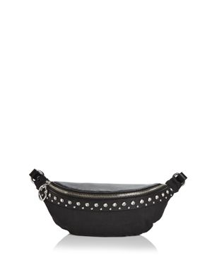 Rebecca Minkoff Crystal Studded Nylon & Leather Convertible Belt Bag