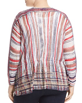 NIC and ZOE Plus - Painted Desert Striped Tie-Front Cardigan
