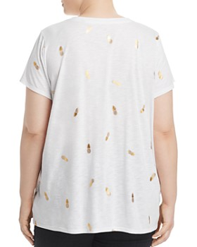 Marc New York Plus - Metallic Pineapple Cutout Tee