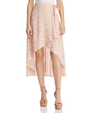 FORE FLORAL WRAP SKIRT