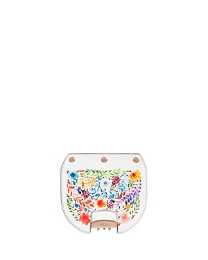 Furla My Play Interchangeable Metropolis Mini Laser-Cut Ladybug Floral Print Leather Flap