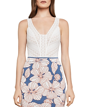 Bcbgmaxazria Sleeveless Lace Bodysuit