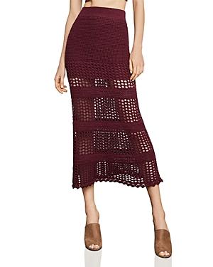 Bcbgmaxazria Crochet Midi Skirt