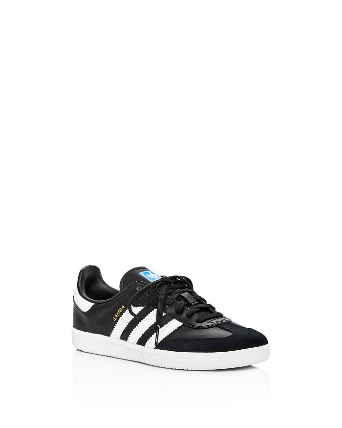 Adidas - Unisex Samba Leather & Suede Lace Up Sneakers - Toddler, Little Kid