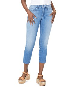 NYDJ - Marilyn Raw-Hem Cropped Ankle Jeans in Capitola