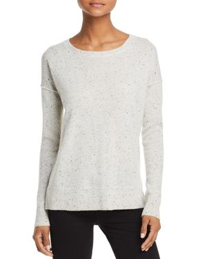 AQUA Cashmere High/Low Cashmere Sweater - 100% Exclusive in Ash Nep