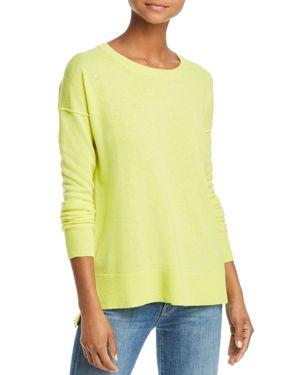 AQUA Cashmere High/Low Cashmere Sweater - 100% Exclusive in Sunshine