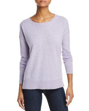 AQUA Cashmere High/Low Cashmere Sweater - 100% Exclusive in Heather Iris