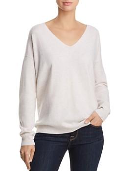 AQUA - Lace-Up Back Cashmere Sweater - 100% Exclusive