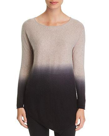 C by Bloomingdale's Asymmetric Dip Dye Cashmere Sweater