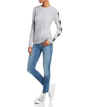 AQUA - Star-Sleeve Cashmere Sweater - 100% Exclusive