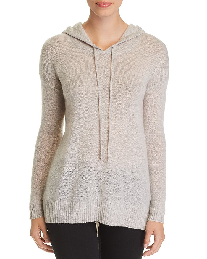 C by Bloomingdale's - Long Cashmere Hooded Sweater - 100% Exclusive