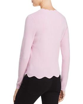 AQUA - Cashmere Scallop-Trim Sweater - 100% Exclusive