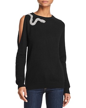 AQUA - Snake Cutout Cashmere Sweater - 100% Exclusive
