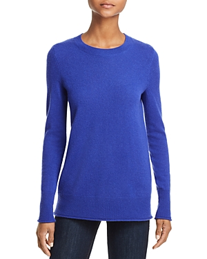 Aqua Cashmere Fitted Cashmere Crewneck Sweater - 100% Exclusive