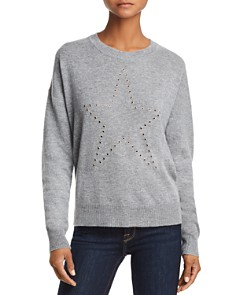 AQUA - Grommet Star Cashmere Sweater - 100% Exclusive