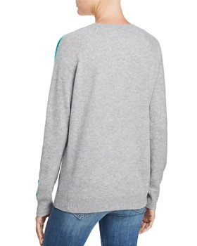 AQUA - Rainbow-Stripe Cashmere Sweater - 100% Exclusive