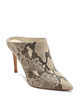 Dolce Vita - Women's Cinda Snake-Embossed Leather High-Heel Mules