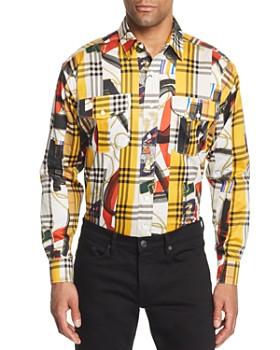 Burberry - Chester Mixed-Print Plaid Regular Fit Button-Down Shirt