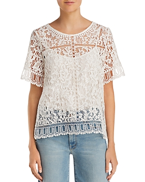 French Connection Arta Lace & Openwork Top