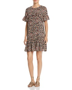 Alison Andrews - Micro Floral Ruffle Dress