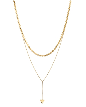 Moon & Meadow Layered Choker Necklace in 14K Yellow Gold, 15 - 100% Exclusive