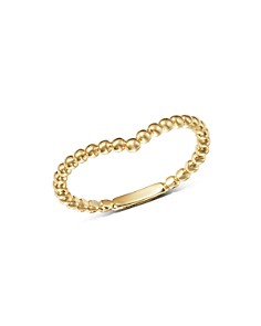 Moon & Meadow - Beaded V-Ring in 14K Yellow Gold - 100% Exclusive