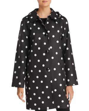 Dot Rain Coat, Black/Beige, Black/White