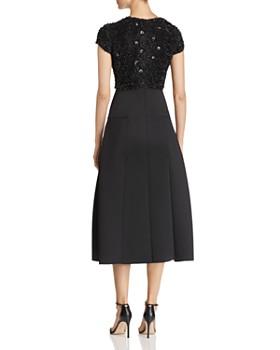 Emporio Armani - Sequined & Appliquéd Bodice Midi Dress