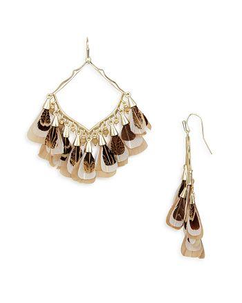 1b2e4fba6 Kendra Scott Raven Feathered Drop Earrings | Bloomingdale's