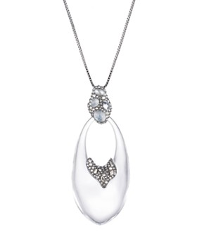 Alexis Bittar - Crystal Cluster Drop Pendant Necklace, 32""