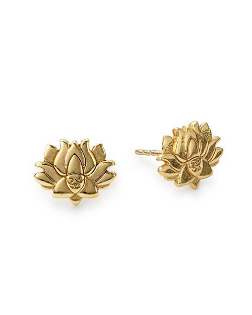 Alex and Ani - Lotus Peace Petals Stud Earrings