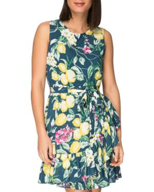 B COLLECTION BY BOBEAU AMINA SLEEVELESS FLORAL-PRINT DRESS