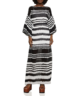 Bcbgmaxazria Batik Stripe Maxi Dress