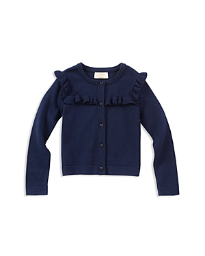 kate spade new york Girls Ruffled Cardigan  Little Kid