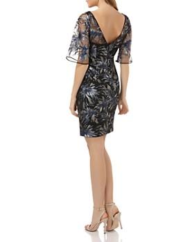 Carmen Marc Valvo - Sequined Cocktail Dress
