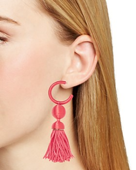 BAUBLEBAR - Sameria Hoop & Tassel Drop Earrings