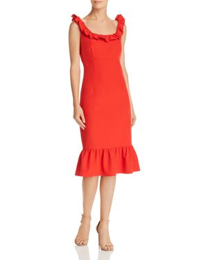 nanette Nanette Lepore Sleeveless Ruffle-Trim Dress