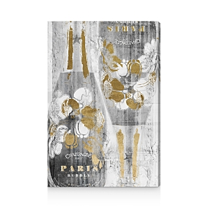 Oliver Gal Gold and Light Bubbly Wall Art, 10 x 15